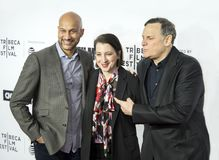 Keegan-Michael Key, Elisa Pugliese, and Craig Hatkoff at 2018 Tribeca Fill Festival Opening Night Stock Photography