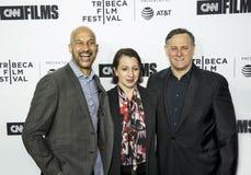Keegan-Michael Key, Elisa Pugliese, and Craig Hatkoff at 2018 Tribeca Fill Festival Opening Night Stock Image