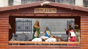 Comedoiro de Bethlehem video estoque