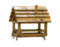Comedoiro de madeira da casa fotografia de stock royalty free