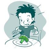 Comedor criticón stock de ilustración