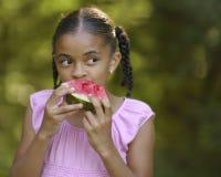 Comedor da melancia fotografia de stock