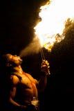 Comedor de fogo, Tunísia Imagens de Stock Royalty Free
