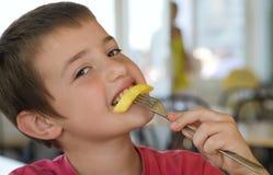 Comedor de la patata foto de archivo libre de regalías