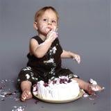 Comedor de la torta Foto de archivo