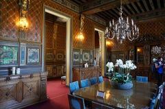 Comedor del castillo francés del castillo de Cheverny Fotografía de archivo