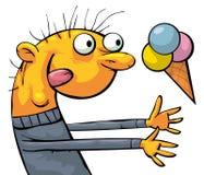 Comedor divertido del helado libre illustration