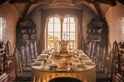 Comedor en el palacio de Pena, Sintra, Portugal Fotos de archivo libres de regalías