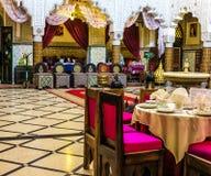 Comedor en un palacio marroquí antiguo en Rabat foto de archivo libre de regalías