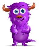 Comedor púrpura de la gente Imagen de archivo