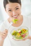 Comedor saudável imagens de stock royalty free