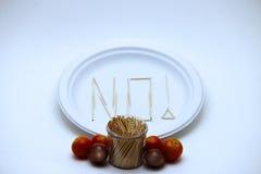 Comedor seletivo - tomates imagem de stock