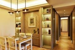 Comedor y vestíbulo de la puerta Imágenes de archivo libres de regalías