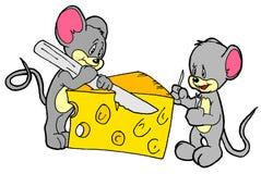 Comedores do queijo Imagem de Stock