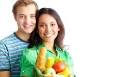 Comedores sanos Imagen de archivo