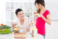 Comedores saudáveis Foto de Stock Royalty Free