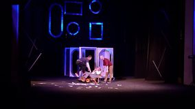 Comedy The Auditor. Dnipro, Ukraine - July 3, 2019: Comedy The Auditor by Mykola Gogol performed by members of the Dnipro State Drama and Comedy Theatre stock video footage