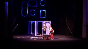 Comedy The Auditor. Dnipro, Ukraine - July 3, 2019: Comedy The Auditor by Mykola Gogol performed by members of the Dnipro State Drama and Comedy Theatre stock video