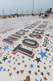 Comedy carpet in blackpool lancashire, uk Stock Photo