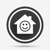 Comedy club. Smile icon. Happy face symbol. Stock Photography