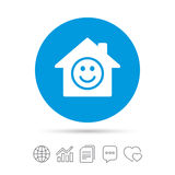 Comedy club. Smile icon. Happy face symbol. Stock Photos
