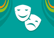 Comedy and Drama Theatre Mask. Editable Clip art. Royalty Free Stock Images