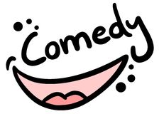 Comedy draw. Creative design of comedy draw Royalty Free Stock Photography