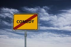 COMEDY - image with words associated with the topic MOVIE, word, image, illustration Royalty Free Stock Photography