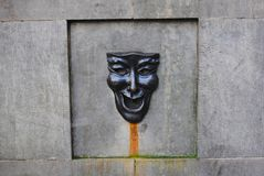 Comedy mask fountain Royalty Free Stock Photos
