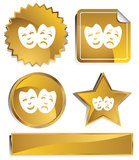 Comedy Masks. An image of traditional comedy masks Royalty Free Stock Photography