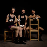 Comedy show by circus jugglers Royalty Free Stock Photos