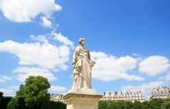 Comedy statue of Toussaint J Roux 1836/1880, the Tuileries (Paris Fr Stock Photo