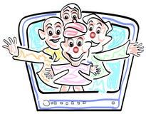 Comedy T V show. Funny colourful cartoon Stock Photos