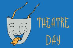 Comedy theater mask Stock Image