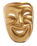 Comedy  theatrical mask. Isolated on a white background Stock Photo