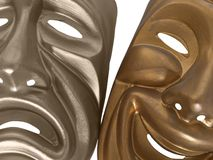 Comedy and Tragedy Masks Stock Images