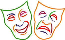 Comedy Tragedy Masks Royalty Free Stock Images