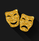 Comedy and Tragedy Masks Stock Photography