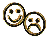 Comedy and Tragedy theater icons Royalty Free Stock Images