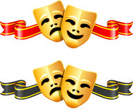 Comedy and tragedy theater masks Royalty Free Stock Photography