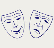 Comedy-tragedy theater masks Royalty Free Stock Photos