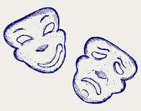 Comedy and tragedy theater masks Royalty Free Stock Photos