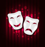 Comedy and tragedy theatre masks. Illustration comedy and tragedy theatre masks - vector Royalty Free Stock Images