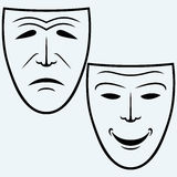 Comedy and Tragedy theatrical mask Royalty Free Stock Images