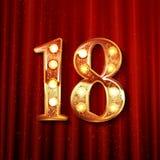 Comemoração de 18 anos de aniversário Fotografia de Stock Royalty Free