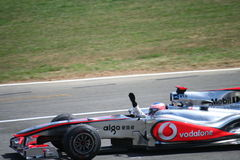 Comemoração de Jenson Button Foto de Stock