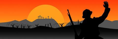 Comemoração do centenário da grande guerra ilustração do vetor