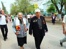 Comemoração do dia da grande vitória em Rússia Fotografia de Stock