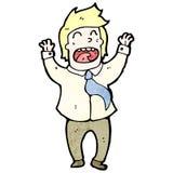 comemoração do homem do escritório dos desenhos animados Fotografia de Stock Royalty Free