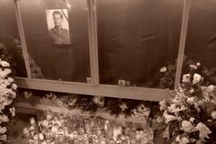 Comemoração do rei Mihai em Royal Palace em Bucareste, Romênia Imagens de Stock